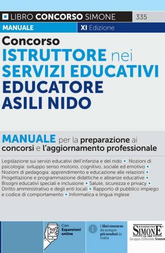 istruttore nei servizi educativi educatore asili nido manuale