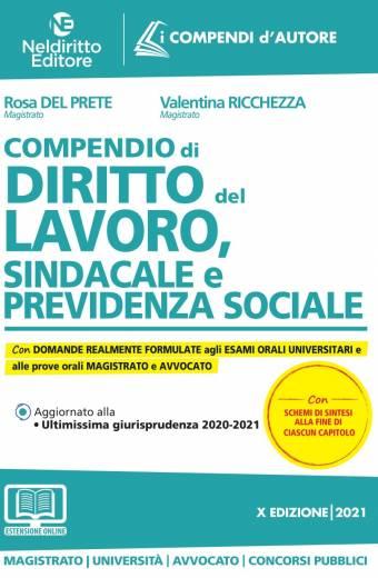 compendio di diritto del lavoro sindacale e previdenza sociale nel diritto