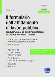 formulario affidamento lavori pubblici