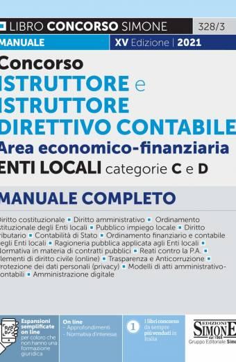 Concorso Istruttore e Istruttore Direttivo contabile negli Enti Locali area Economico Finanziaria Enti locali
