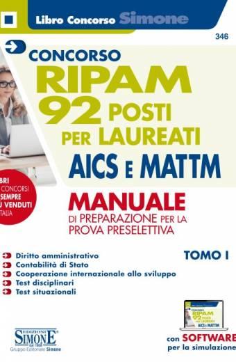 Concorso RIPAM - 92 posti per laureati AICS e MATTM - Manuale