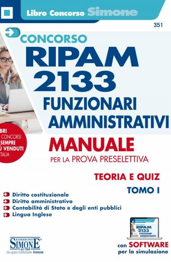 2133 funzionari ripam manuale simone