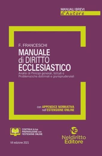 manuale ecclesiastico nel diritto 2021