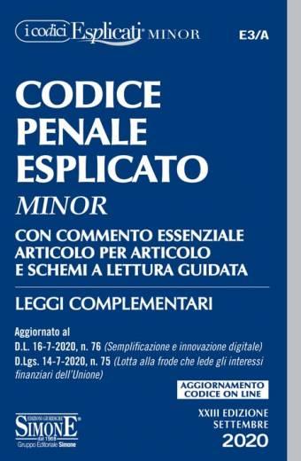 codice esplicato minor penale