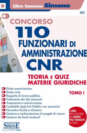 110 funzionari CNR materie giuridiche