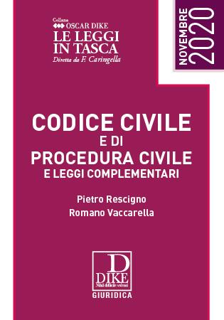 codice civile e procedura civile novembre 2020