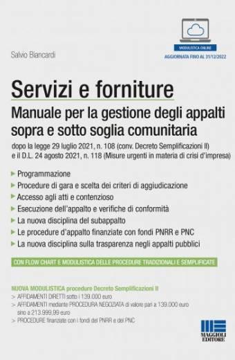 servizi e forniture manuale