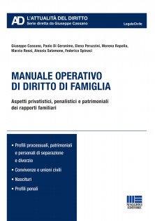 manuale operativo diritto di famiglia