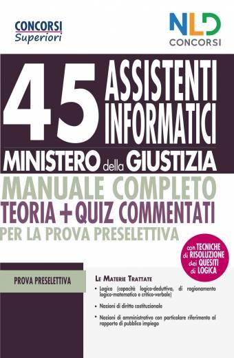 45 assistenti informatici ministero giustizia