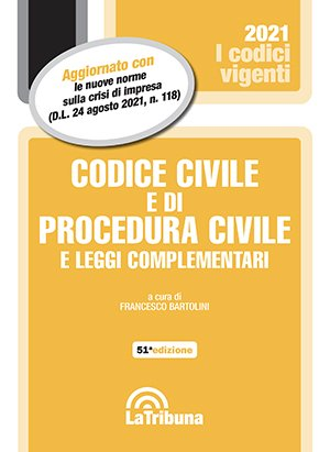 codice civile e di procedura civile vigente