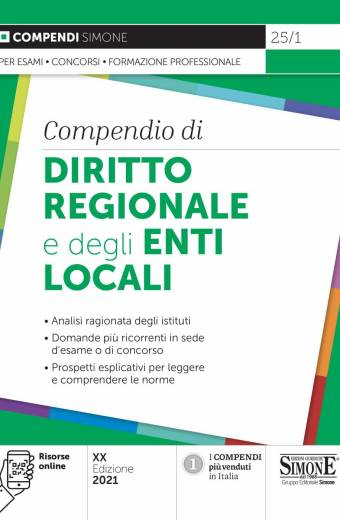 compendio diritto regionale e degli enti locali