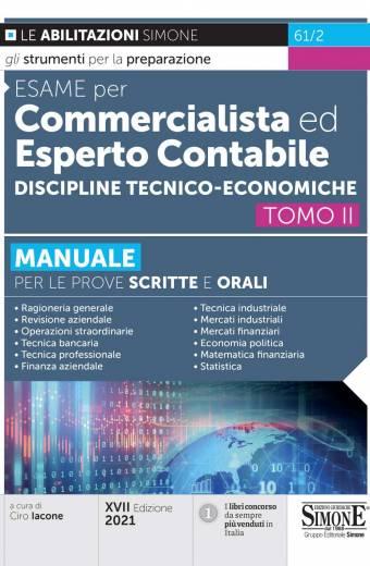 esame per commercialista ed esperto contabile discipline tecnico economiche