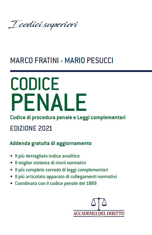 codice penale fratini 2021