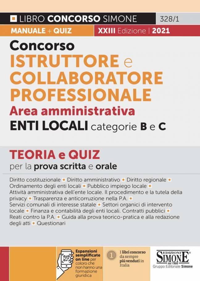 Concorso Istruttore e Collaboratore Professionale Area Amministrativa Enti Locali categorie B e C