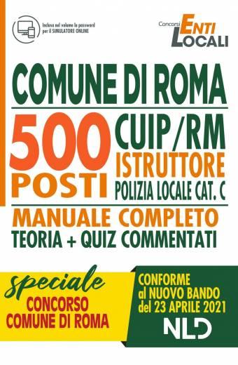 comune di roma 500 posti CUIP/RM istruttore polizia locale cat. C