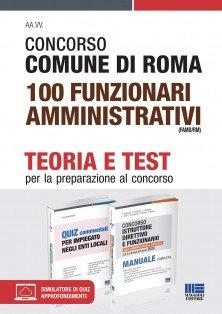 Concorso Comune di Roma 100 Funzionari amministrativi (FAMD/RM) - Kit completo