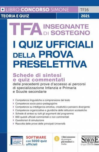 TFA Insegnante di sostegno – I quiz ufficiali della prova preselettiva