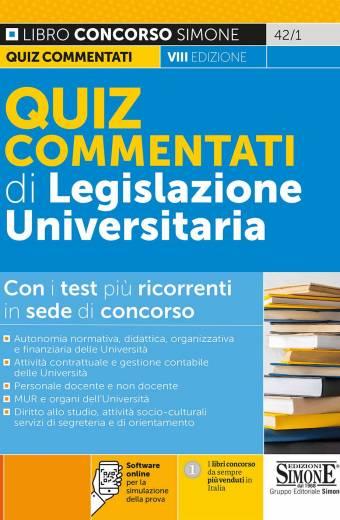 Quiz commentati di Legislazione Universitaria