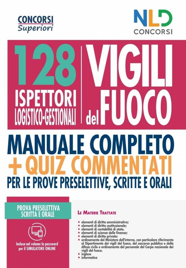 128 ispettori Logistico-Gestionali Vigili del Fuoco